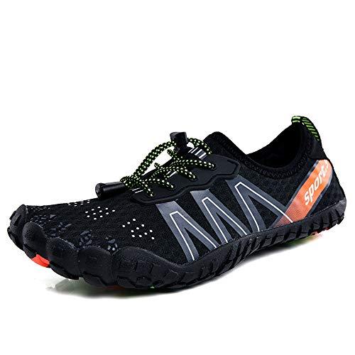 Zapatos de Agua Zapatos de los Hombres de Las señoras vadea los Zapatos por Surf Playa de la natación al Aire Libre Zapatos Adecuado para Nadar Surf (Color : Black, Size : 39)