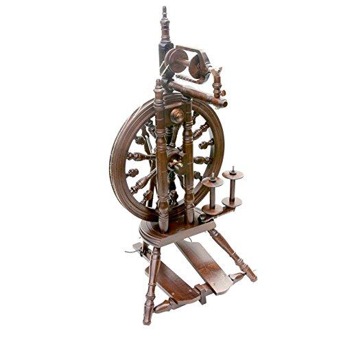 Kromski Minstrel Doppeltritt Spinnrad zum Spinnen von Wolle Spinnen Hobby (Walnuss)