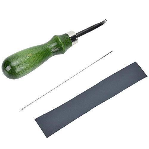 0.6mm 1.4mm Professioneller Leder kantenschneider Lederhandwerk Werkzeugsatz für DIY Kantenformer Kantenschneidwerkzeug(0.8mm)