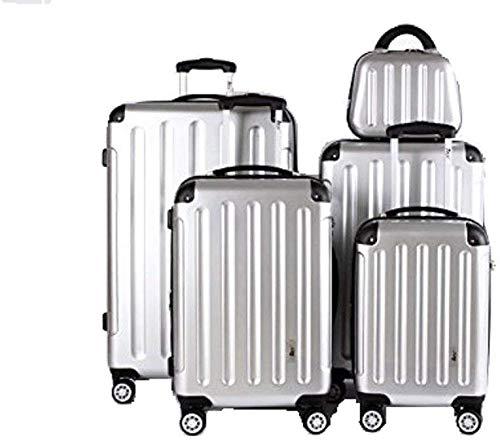 IMEX   Koffer-Set   5 Teilig   Reiseset   Gepäck   Tasche   auf Räder   ABS   Silber   UY-0036