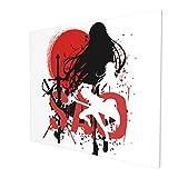 Sword Art Online 3D HD Impresión de pared Arte abstracto, pintura al óleo sin marco, decoración decorativa para el hogar, lienzo moderno, pintura de la pared (20 x 24 pulgadas)