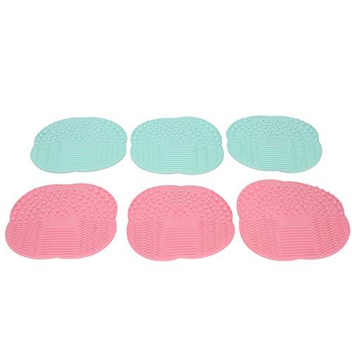 Esterilla de cepillo de goma para limpieza de cepillos cosméticos para una limpieza fácil para uso doméstico para maquilladores