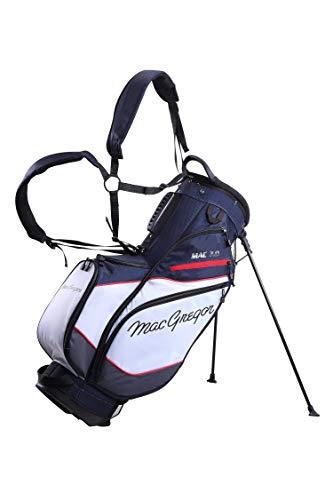 MacGregor Mactec 7.0 Sac de Golf pour Homme Bleu Marine/Blanc/Rouge Taille Unique