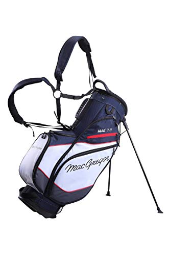 MacGregor MACTEC 7.0 - Bolsa de Golf para Hombre, Color Azul Marino/Blanco/Rojo, Talla única