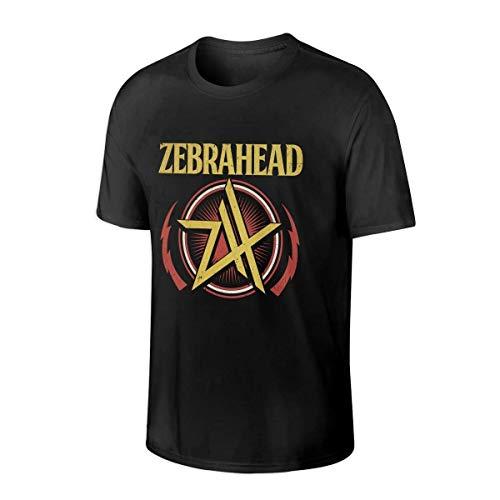 Zebrahead Men's Classic Cotton T-Shirt, Stylish Round Neck T-Shirt,Black,4X-Large
