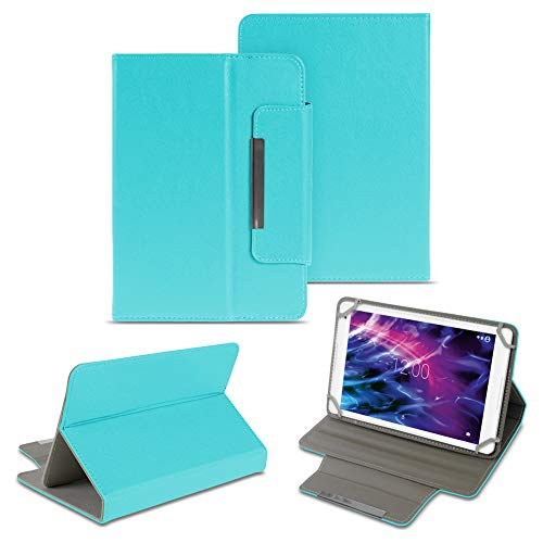 NAUC Medion Lifetab E6912 Tablet Schutzhülle Universal Tablettasche hochwertiges Kunstleder Tasche Hülle Standfunktion Cover Hülle, Farben:Türkis