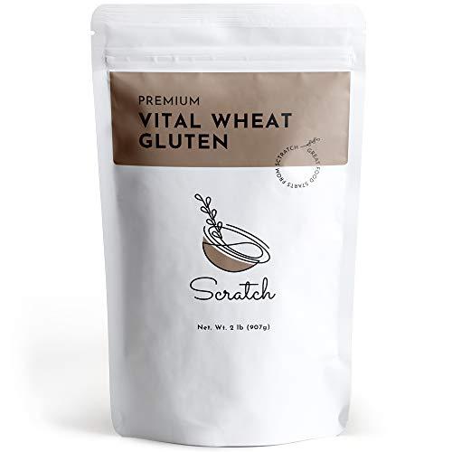 Scratch Premium Vital Wheat Gluten - (2 LB) Seitan Flour, High Protein, Low Carb, Vegan, Non GMO Gluten Powder