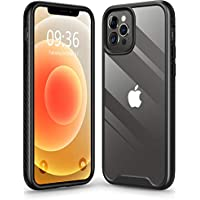 Matone Clear Slim Protective Hybrid Cover Hard PC Back with TPU Bumper Compatible with iPhone 12, iPhone 12 Pro
