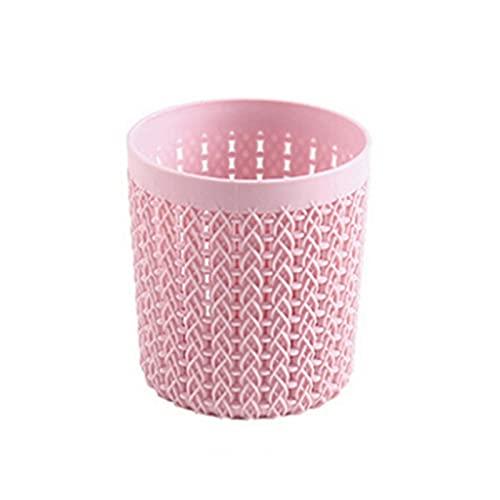 XUEXIU Cepillo Cosmético Bolsa Pinceles Organizador Maquillaje Herramientas Cilindro Hueco Cosmético Cepillo Caja De Caja Cilindro Almacenamiento Vacío Titular (Color : Pink)