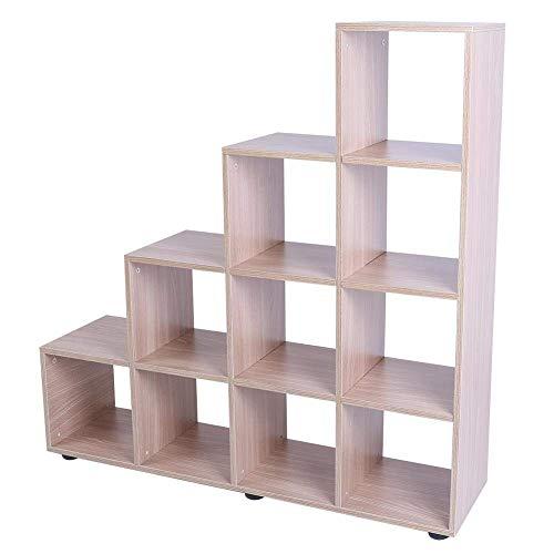 Regal Kubus Holz, Maßstab 4Etagen (mit 10Regalen Würfel) Design um die Bücher, Vase und andere Artikeln geeignet geeignet zu ihrem Wohnzimmer, Studio, Camera oder Wo denkt auch geeignet Eiche