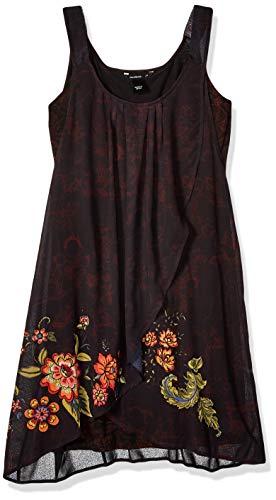 Desigual Damen Kleid Dress Straps Julie, Schwarz (Negro 2000), Gr. 36 D (Herstellergröße: 38)