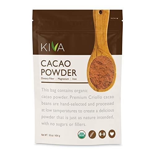 Kiva Raw Organic Cacao Powder (Unsweetened Cocoa - Dark Chocolate...