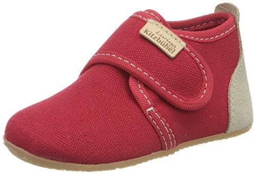 Living Kitzbühel Jungen Unisex Kinder Babyklettschuh unifarben Lauflernschuhe, rot, 19 EU