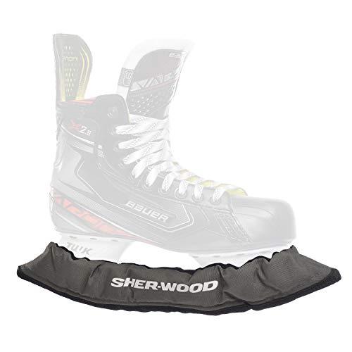 SHER-WOOD - Senior Pro Eishockey elastische Kufenstrümpfe für Eishockey- & Schlittschuhe, 2 Stück, grau