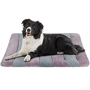 JoicyCo Dog Beds Crate Pad Mat 36″/42″/47″ Pet Bed Washable Cat Beds Anti-Slip Dog Mattress Kennel Pad