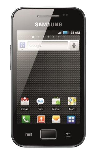 Samsung Galaxy Ace S5830 Smartphone (8,8 cm (3,5 Zoll) Display, Touchscreen, 5 Megapixel Kamera) [EU-Import] schwarz