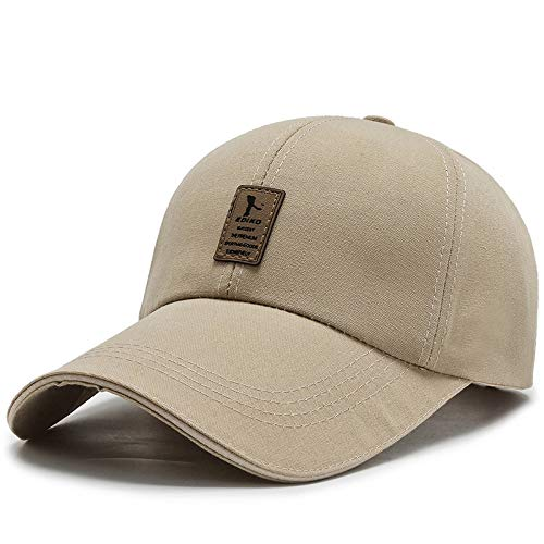 wtnhz Sombrero-Sombrero Gorra de béisbol Coreana para Hombre de Verano Gorra de Lona de Mediana Edad Sombrero para el Sol con Aleros Grandes al Aire Libre Sombrero par