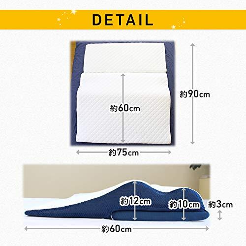 共進繊維安眠枕RelaxPillowリラックスピローホワイト[かたさ:標準]肩こり・首こり軽減低反発高さ調節可能(75×60cm)