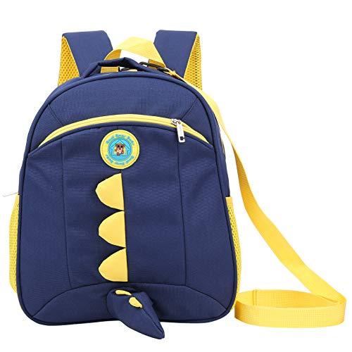 Xirfuni Bolsa para niños, Correa Ajustable Engrosada y ensanchada, Mochila Preescolar Ligera, Suave y Colorida, hogar para Actividades al Aire Libre(Navy Blue)
