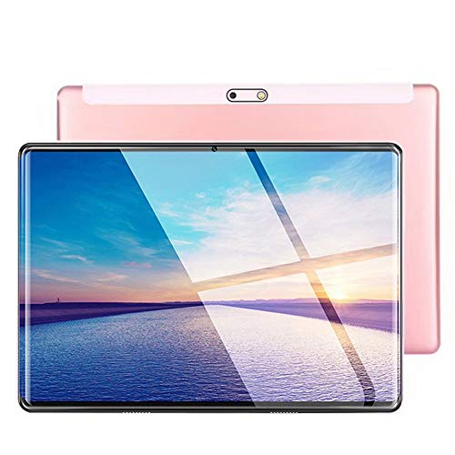 Hodoson Tablet 10,1 Zoll Android Tablet mit 2 GB + 32 GB, 3G Handy Tablets & Dual-Sim-Karte & 5MP + 2MP Kamera, Quad Core Prozessor, 1280 x 800 IPS 2.5D Arc HD Display, GPS, FM (Pink)