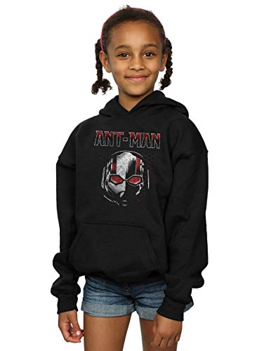 Marvel Fille Ant-Man and The Wasp Scott Mask Hexagon Sweat À Capuche Noir 12-13 Years