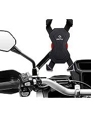 Grefay Soporte de motocicleta Teléfono Celular Universal Para Teléfono Móvil Abrazadera de la Horquilla 3,5 a 6,5 pulgadas GPS para Teléfonos Inteligentes Otros Dispositivos