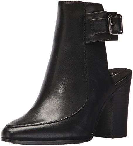 Aerosoles Women's Square UP Fashion Boot, Black Leather, 9.5 M US