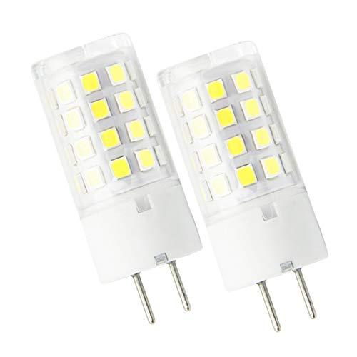 ZIBEI GY6.35/G6.35 Bombillas LED 5W Blanco Frío 6000K,Equivalente 50W G6.35 de halógeno,AC 12V,ángulo de haz de 360 grados(No regulable, 2 piezas)