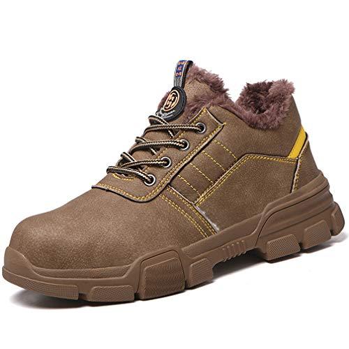 Zapatillas de Seguridad para Hombre, Botas de Seguridad Calzado de Trabajo Mantener...