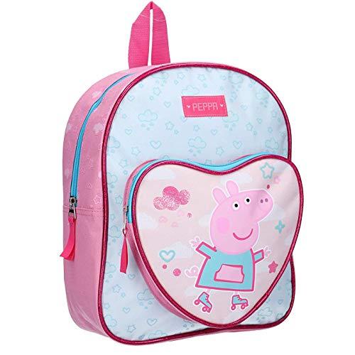 Mochila Escolar Infantil 30cm Mochila Niña Mochila Peppa Pig, Color Rosa
