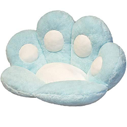 CPNG _Bonito cojín de asiento, diseño de huella de gato, para sofá, silla de oficina, cojín de peluche, suave y cómodo, cojín para el hogar, dormitorio, tienda, restaurante decoración (B)