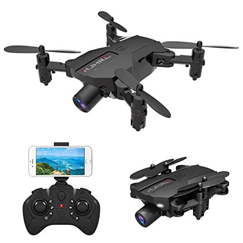 B-Qtech Mini Drone with 1080P HD Camera, Foldable WiFi RC Quadcopter Drone with Real-time Transmission for Kids & Adults & Beginners, Altitude Hold, Speed Adjustment (Carrying 2 Batteries)