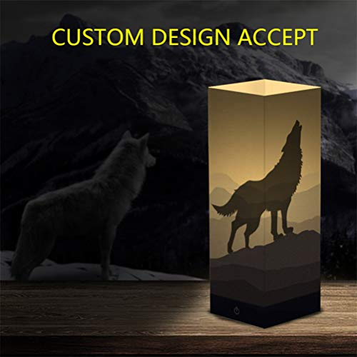 ZWSLY Customized Photo Lights Personalized Night Lights Paper Lanterns Printed Pictures LED Lights(Yellow 30x100x100mm/300x100x100mm)