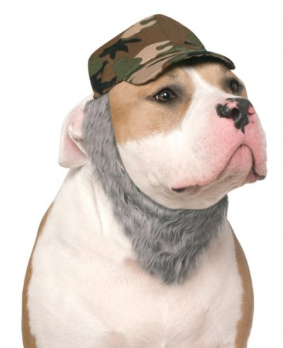 Rubie's Costume Co Duck Hunter Hat with Beard For Pets, Medium/Larg