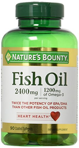 Natures Bounty Fish Oil 2400 mg Double Strength Odorless 90 Softgels Pack of 2