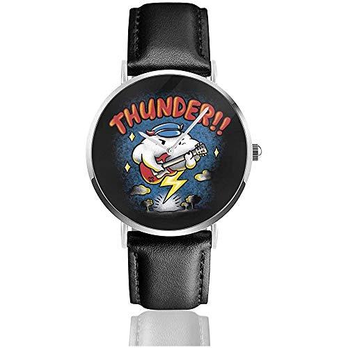 Thunder Raincloud Relojes de Guitarra eléctrica Reloj de Cuero de Cuarzo con...