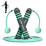 Ropeless Jump Rope,Tangle-Free Rapid Speed 2 in 1 Adjustable Skipping Rope with Foam Handles Indoor Outdoor Aerobic Exercise Fitness for Women Men Kids