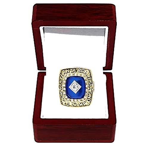 HZIH CopiarRings Championship, MLB 1995 Atlanta Warriors Champion Ring Ring Replica Fans de los Hombres Recolección de Regalos Recuerdo,with Box