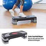 QTDH l'exercice Aérobie Étape Plate-Forme, Étape Équipement d'exercice Réglable Plate-Forme 31' Séance D'entraînement Antiderapant Yoga Pédale Stepper Gym Workout Exercice