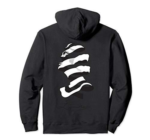 MC Escher Like Hoodie Design Of Woman