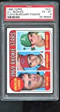 1969 Topps #597 A.L. Rookie Stars Rollie Fingers Larry Burchart Bob Floyd RC MLB American League Rookies PSA 6 Graded Baseball Card MLB. rookie card picture