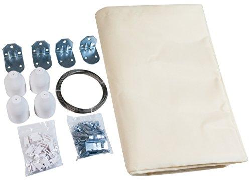 Windhager Set Completo de toldo tecnología de tensado de Cuerdas, Incl. Vela 270 x 140 cm, pérgola o Invernadero para una protección Solar Ideal, Crema Blanca 10868