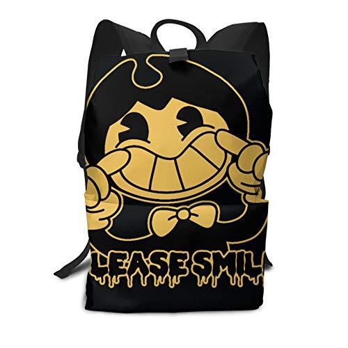 Youth/Adult Backpack, Cup Please Smile Travel Laptop Backpack | Bookbag | Computer Bag | Daypack for Girls & Mens