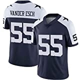 MY0629 NFL Rugby Fan T-Shirts Dallas Cowboys #55 Vander Esch American Football Jersey Short Sleeve Tee Tops for Mens V-Neck Rugby Match Ball Suit