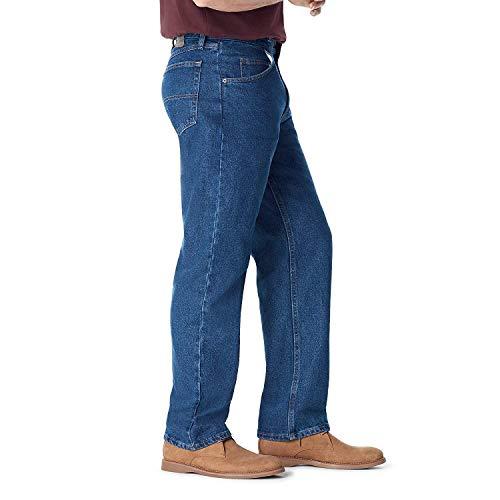 Wrangler Authentics Men's Classic 5-Pocket Relaxed Fit Cotton Jean, Dark Stonewash, 38W x 29L