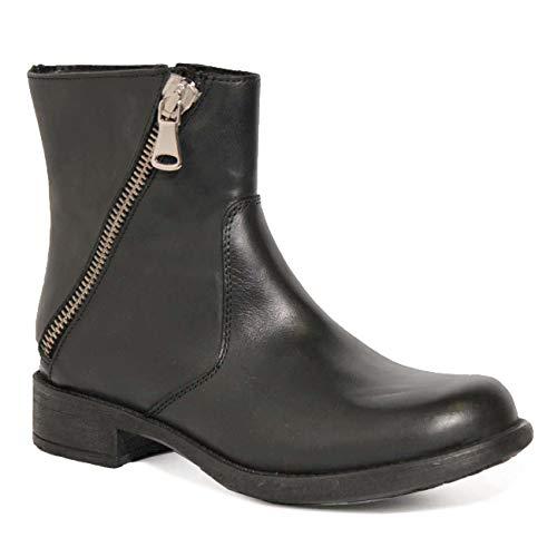 Ovye by Cristina Lucchi Leder Damen Cowboy Boots Echtleder Biker Stiefel Stiefeletten Schuhe Hand Made in Italy (40)