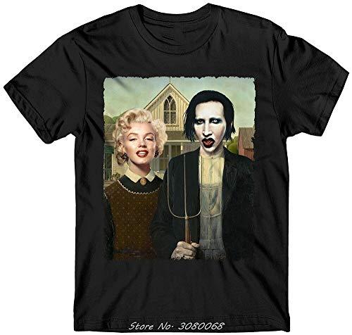 Marilyn Manson/Marilyn Monroe Cult T Shirt American Gothic Funny
