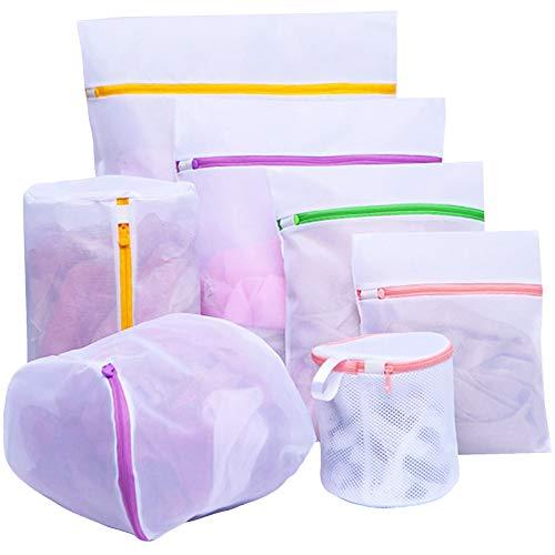 7 STK Wäschesäcke, Wiederverwendbare Wäschenetz für Waschmaschine, Wäschesack Wäschebeutel mit Reißverschluss für BH, Babykleidung, Socken, Unterwäsche, Schuhe, Jacke, Hose.