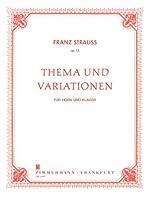 シュトラウス, F.: 主題と変奏 Op.13/ツィマーマン社/ピアノ伴奏付ホルン・ソロ