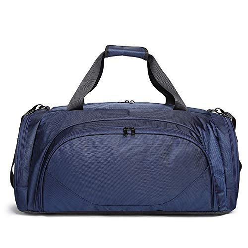 Gym Sports One Shoulder Sports Fitness Bag Portable Travel Waterproof Polyester Oxford Duffel Bag Lightweight Collapsible Packable Mini Backpack (Color : Blue)